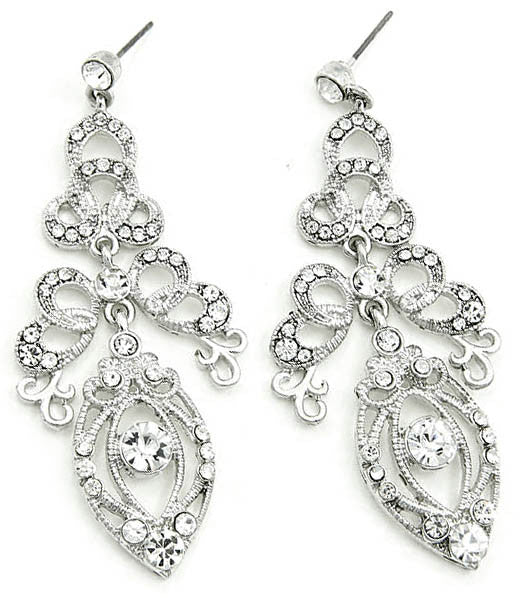 Tiered Ornate Crystal earrings - Perle Jewellery & Makeup