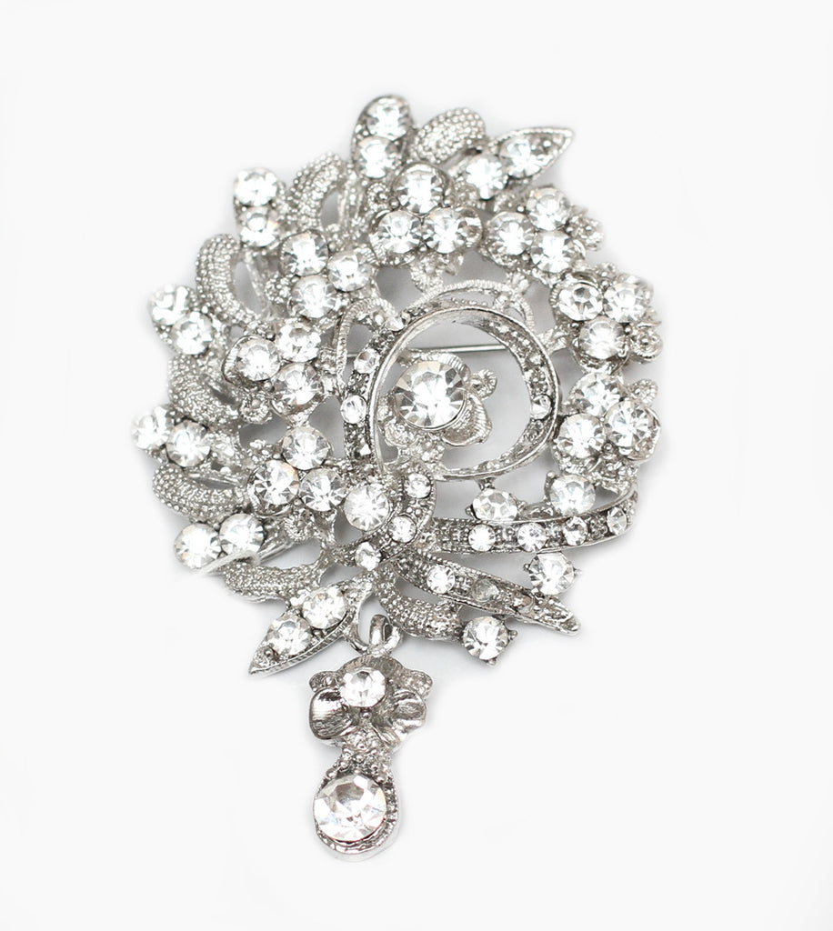 Baroque Crystal Bridal brooch