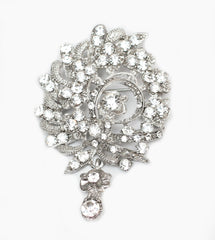Baroque Crystal Bridal brooch - Perle Jewellery & Makeup