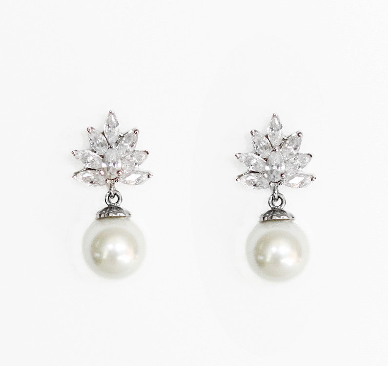 Catherine Bridal Stud Earrings