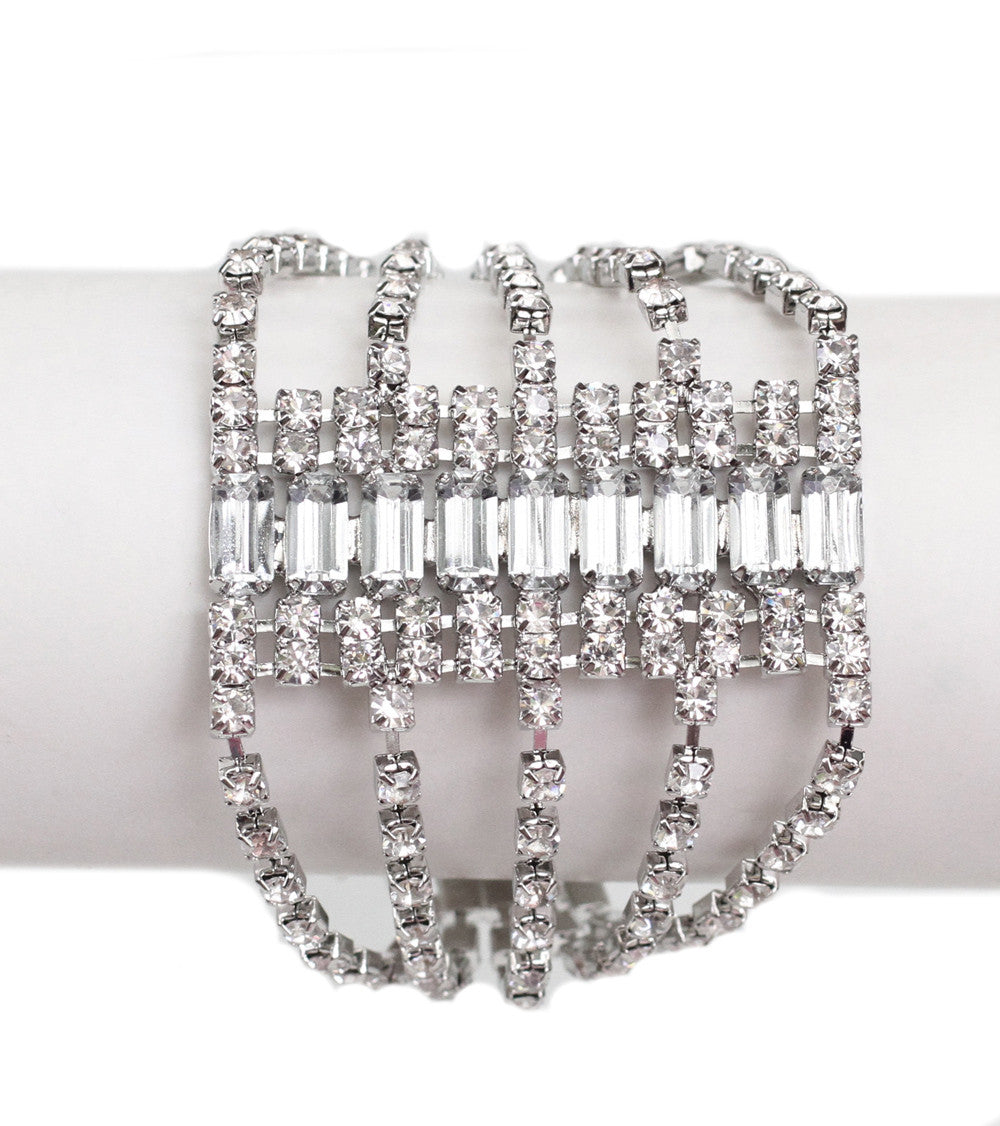 Art Deco Diamonte Bracelet - Perle Jewellery & Makeup