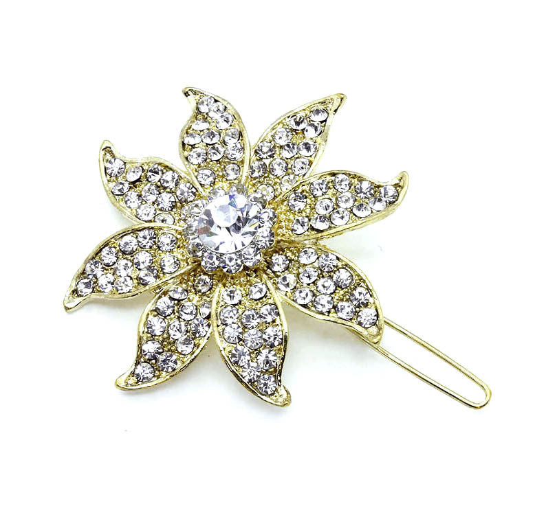 Gold Flower Hair Pin - Perle Jewellery & Makeup