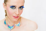 Jewel Flourish Necklace- Aqua - Perle Jewellery & Makeup  - 2