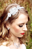 Lace & Crystal Bridal Headband - Perle Jewellery & Makeup  - 2