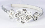 Lace & Crystal Bridal Headband - Perle Jewellery & Makeup  - 4