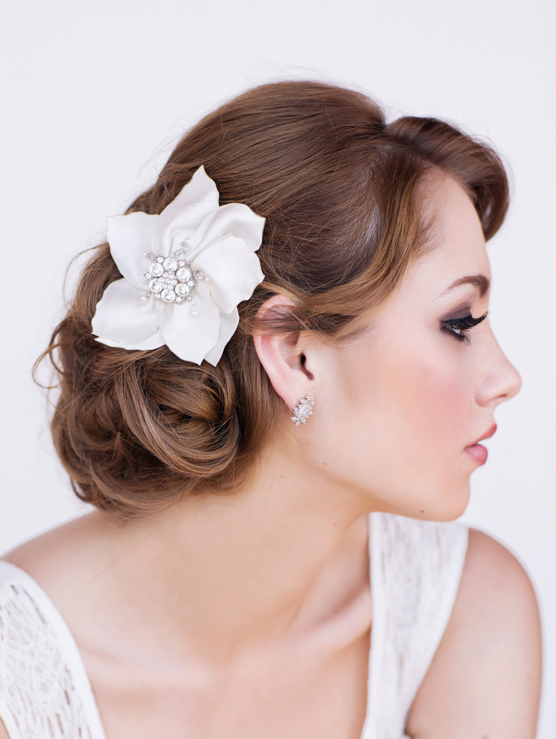 Kara Bridal Headpiece - Perle Jewellery & Makeup  - 1