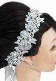 Tia Lace Bridal Headband - Perle Jewellery & Makeup  - 4