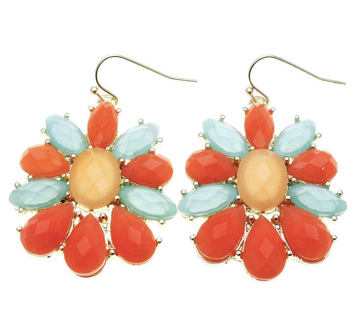 Faceted Petal Earrings -Fruity - Perle Jewellery & Makeup  - 1