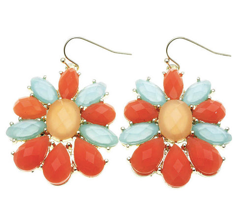 Faceted Petal Earrings -Fruity