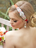 Tangerine Beaded Headband - Perle Jewellery & Makeup  - 1