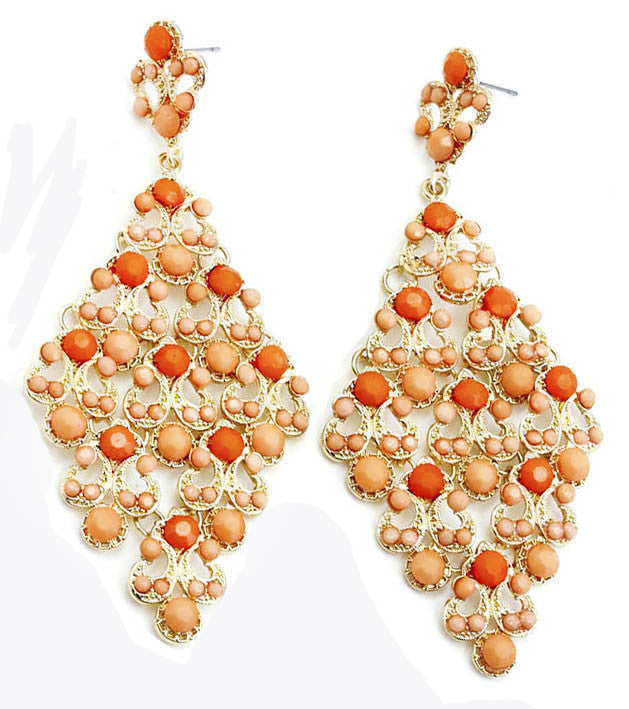 Orange Kite Earrings - Large - Perle Jewellery & Makeup