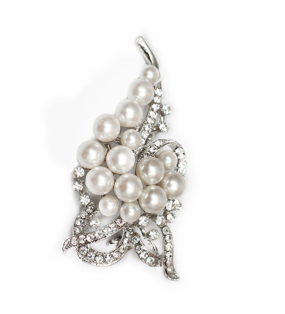 Angelique Pearl bridal brooch