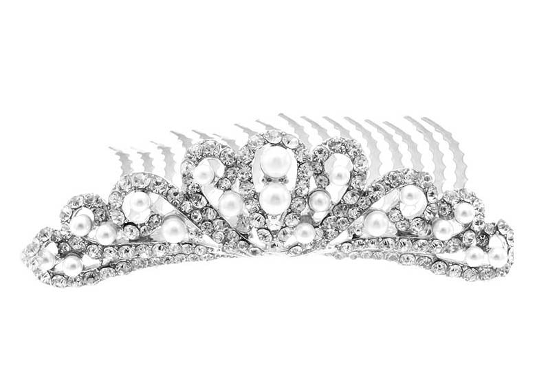 Princess Pearl Wedding Tiara - Perle Jewellery & Makeup