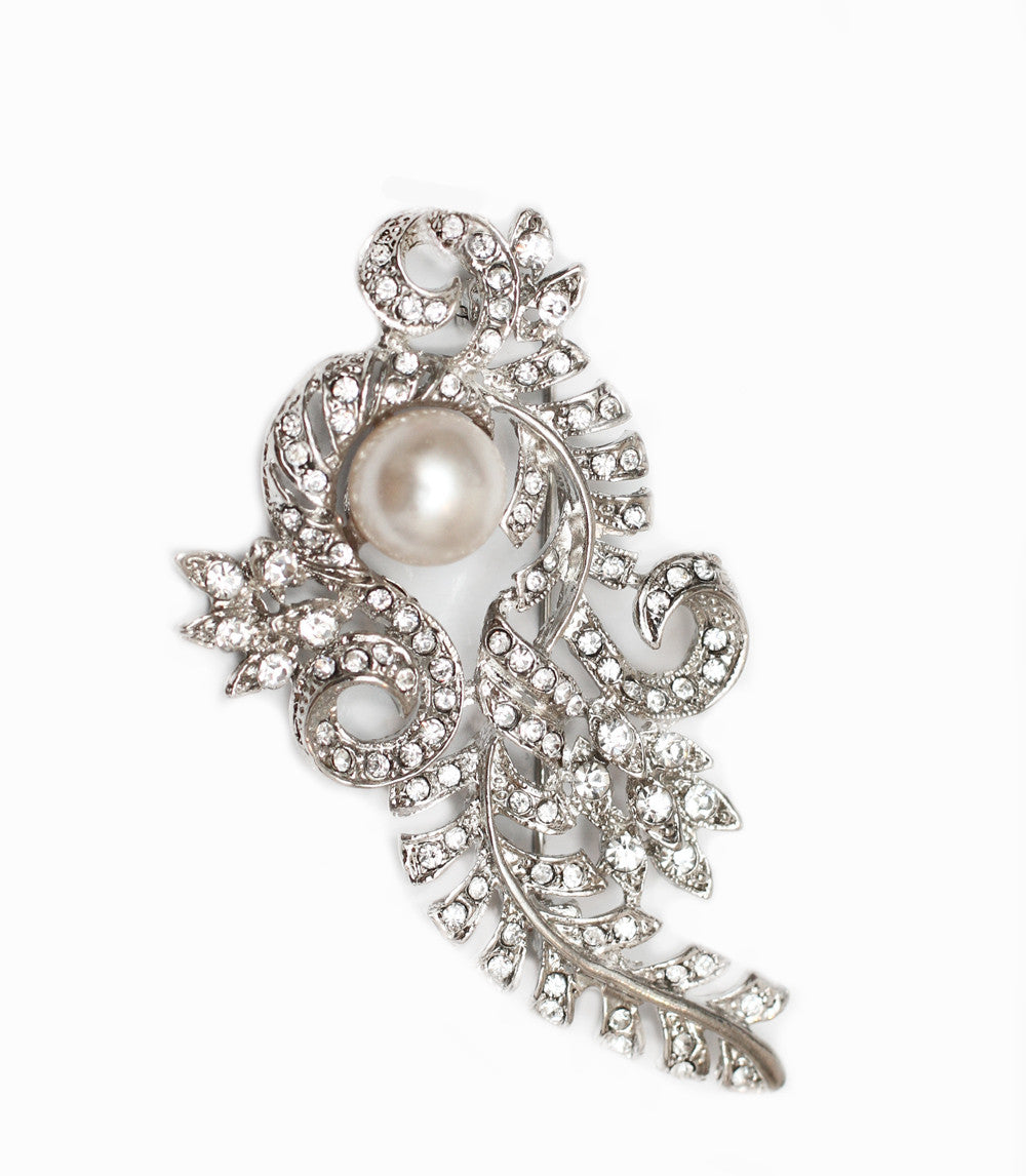 Art Deco Pearl brooch - Perle Jewellery & Makeup
