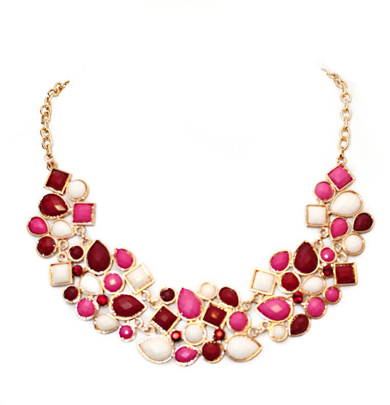 Pebble Necklace -Pink
