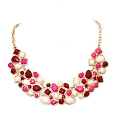 Pebble Necklace -Pink - Perle Jewellery & Makeup  - 1