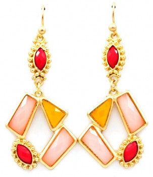 Geometric Sunburst Earrings