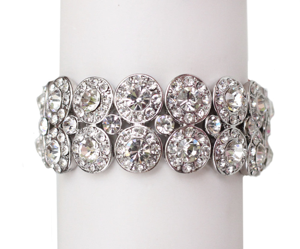 Valerie Crystal Stretch wedding Bracelet
