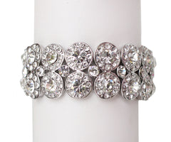 Valerie Crystal Stretch wedding Bracelet - Perle Jewellery & Makeup