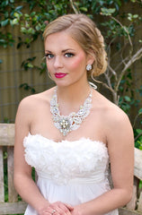Florence Lace Bridal Necklace - Perle Jewellery & Makeup  - 3