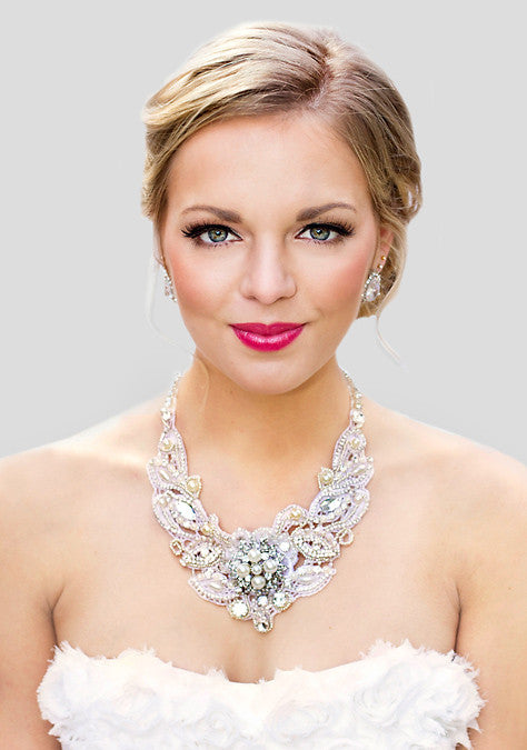 Florence Lace Bridal Necklace - Perle Jewellery & Makeup  - 1