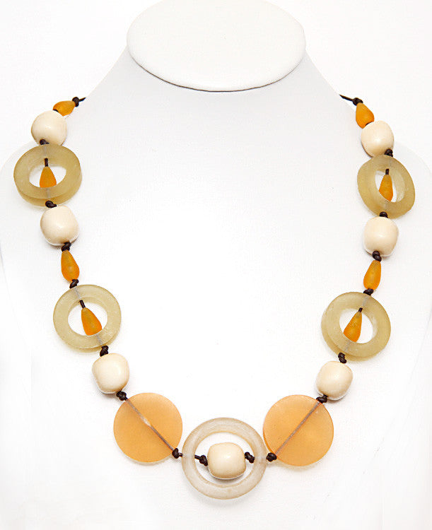 Marigold Round Resin Necklace - Perle Jewellery & Makeup