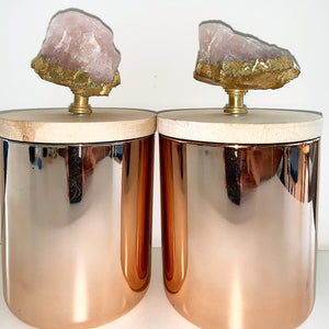 Rose Quartz Multi- Purpose Candle Holder