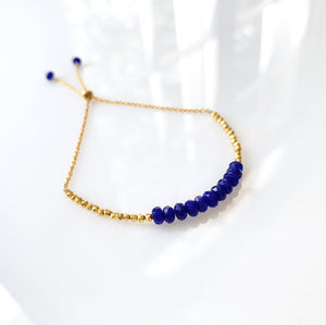 Lapis Lazuli Stacking Adjustable Bracelets