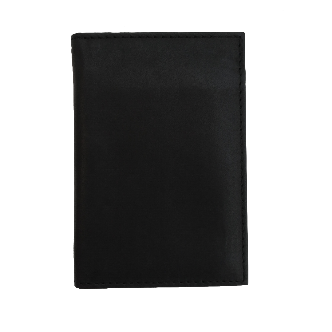 Black Leather Wallet - shoegaro