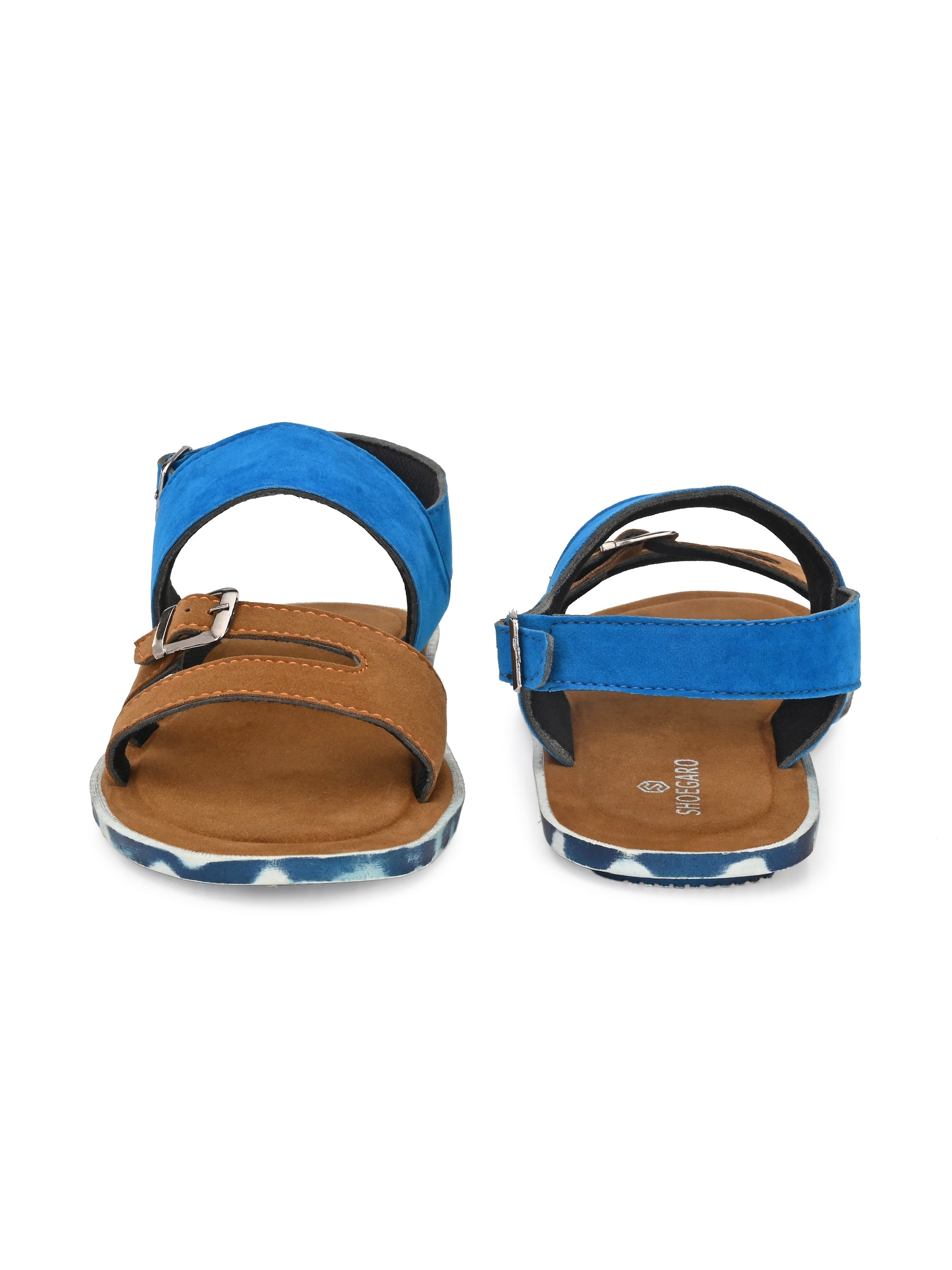Bichrome Blue Trendy Sandal - shoegaro