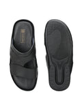 Classy Black Genuine Leather Slipper - shoegaro
