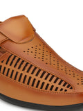 Tan Jazz Roman Sandal - shoegaro