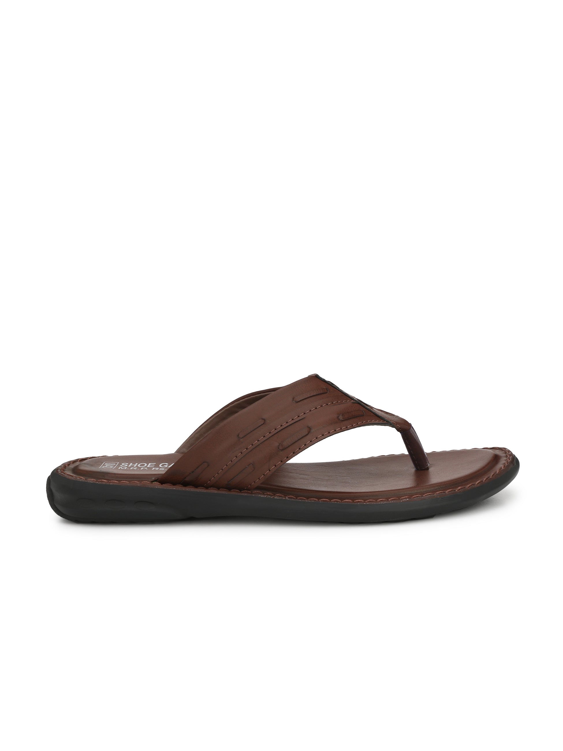 Classic Brown Thong Strap Slipper - shoegaro