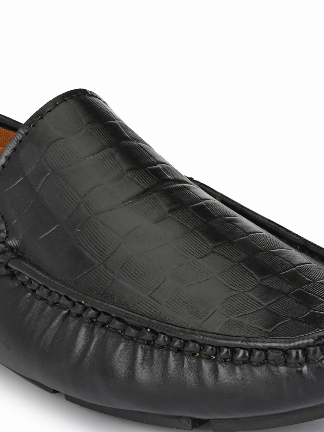 Flexi Black Driving Loafers - shoegaro