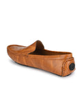 Flexi Tan Driving Loafers - shoegaro