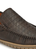 Spunky Brown Comfort Loafers - shoegaro
