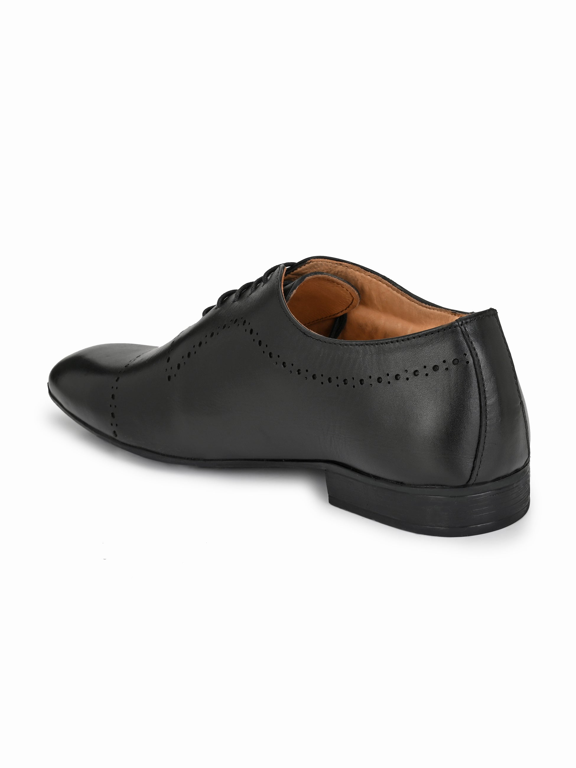 Black Leather Classic Brogues - shoegaro