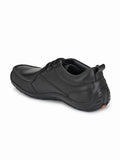 Trailblazer Black Leather Shoes - shoegaro