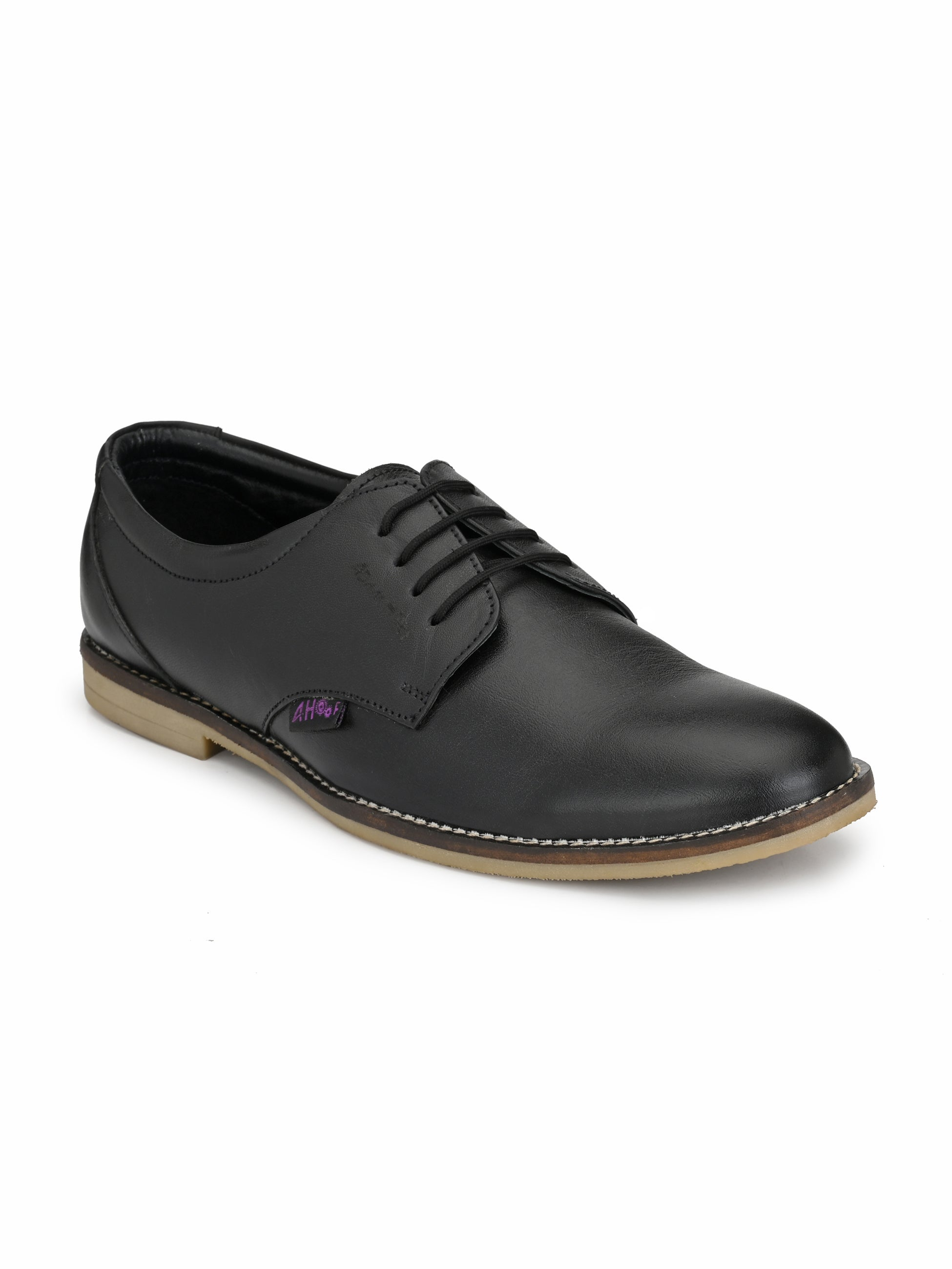 Quento Black Leather Shoes - shoegaro