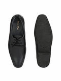 Black Leather Derby Shoes - shoegaro