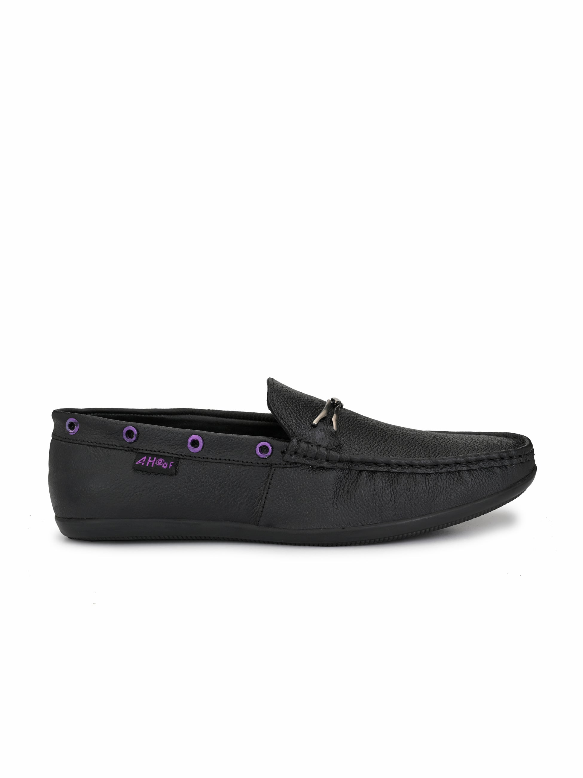 Cool Black Leather Loafers - shoegaro
