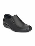 Black Leather Pioneer Shoes - shoegaro