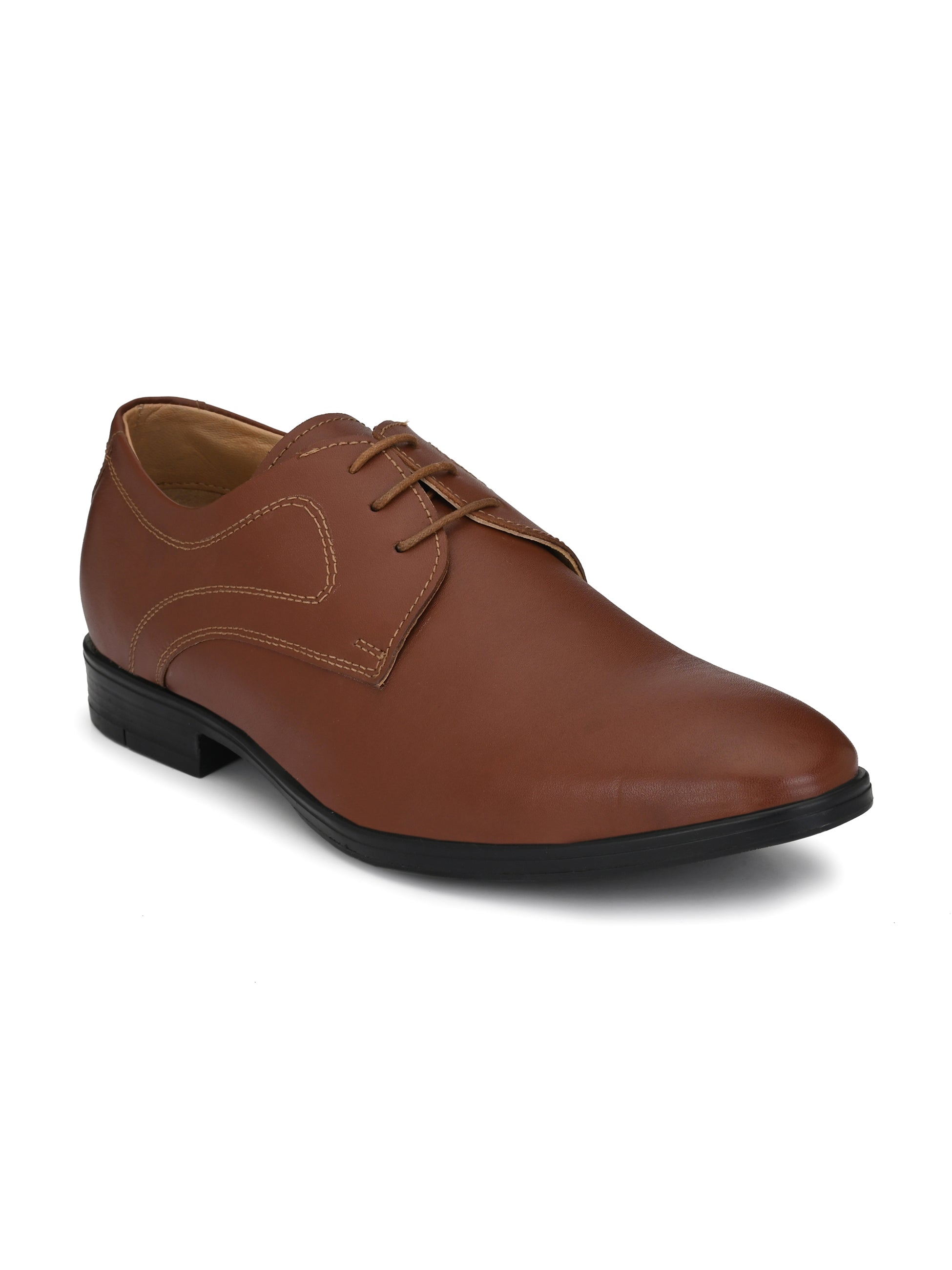 Brown Leather Debonair Shoes - shoegaro