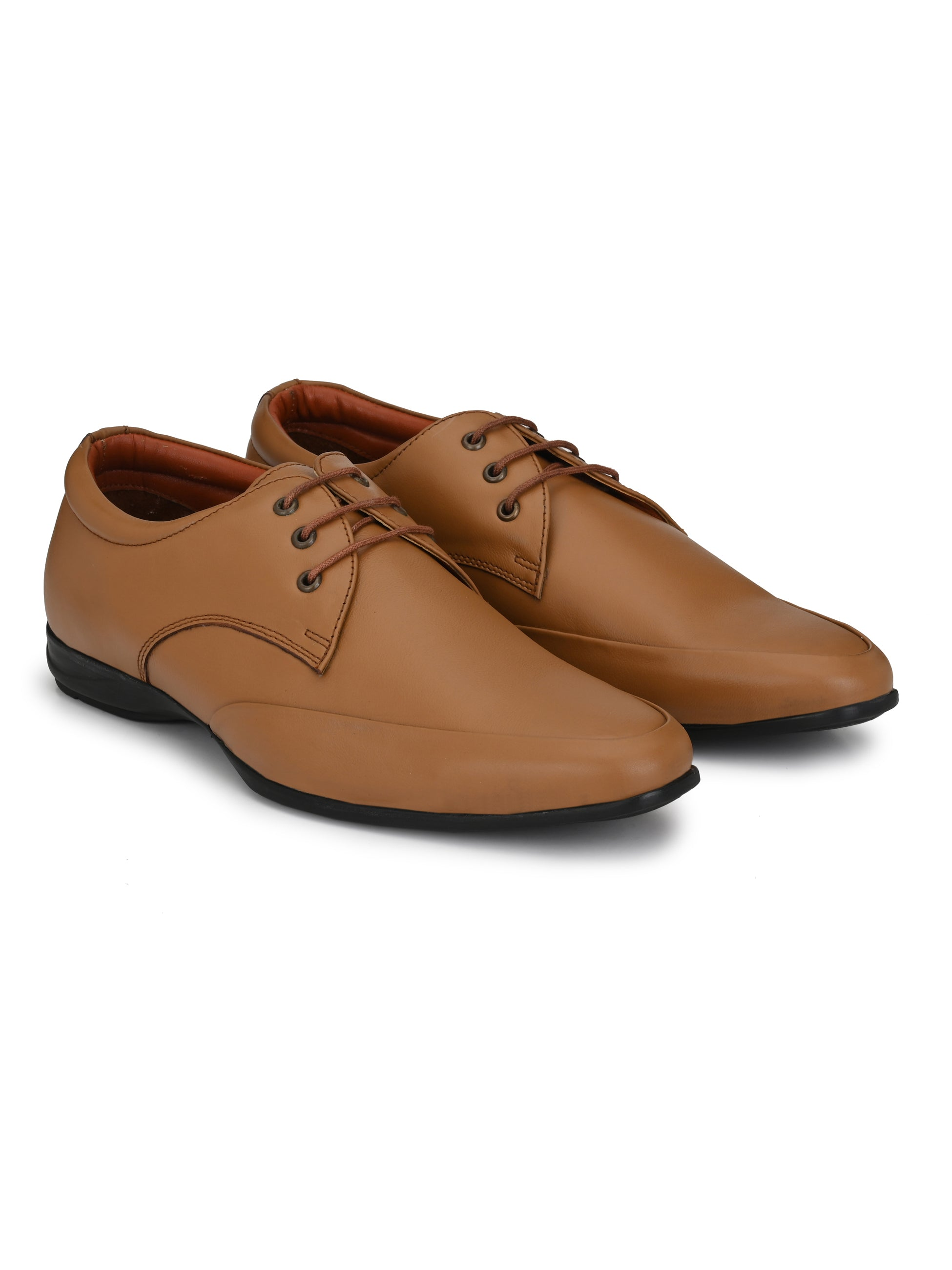 Tan Leather Suave Shoes - shoegaro