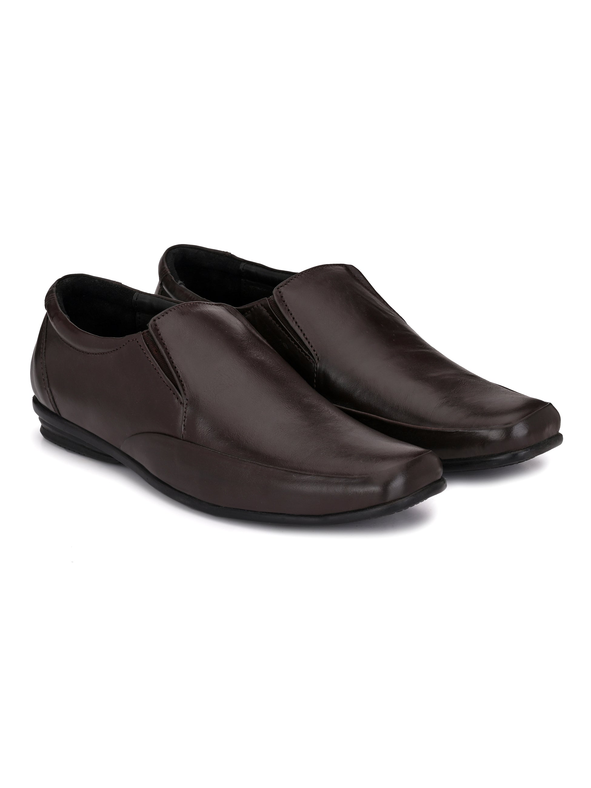Brown Leather Shoes - shoegaro