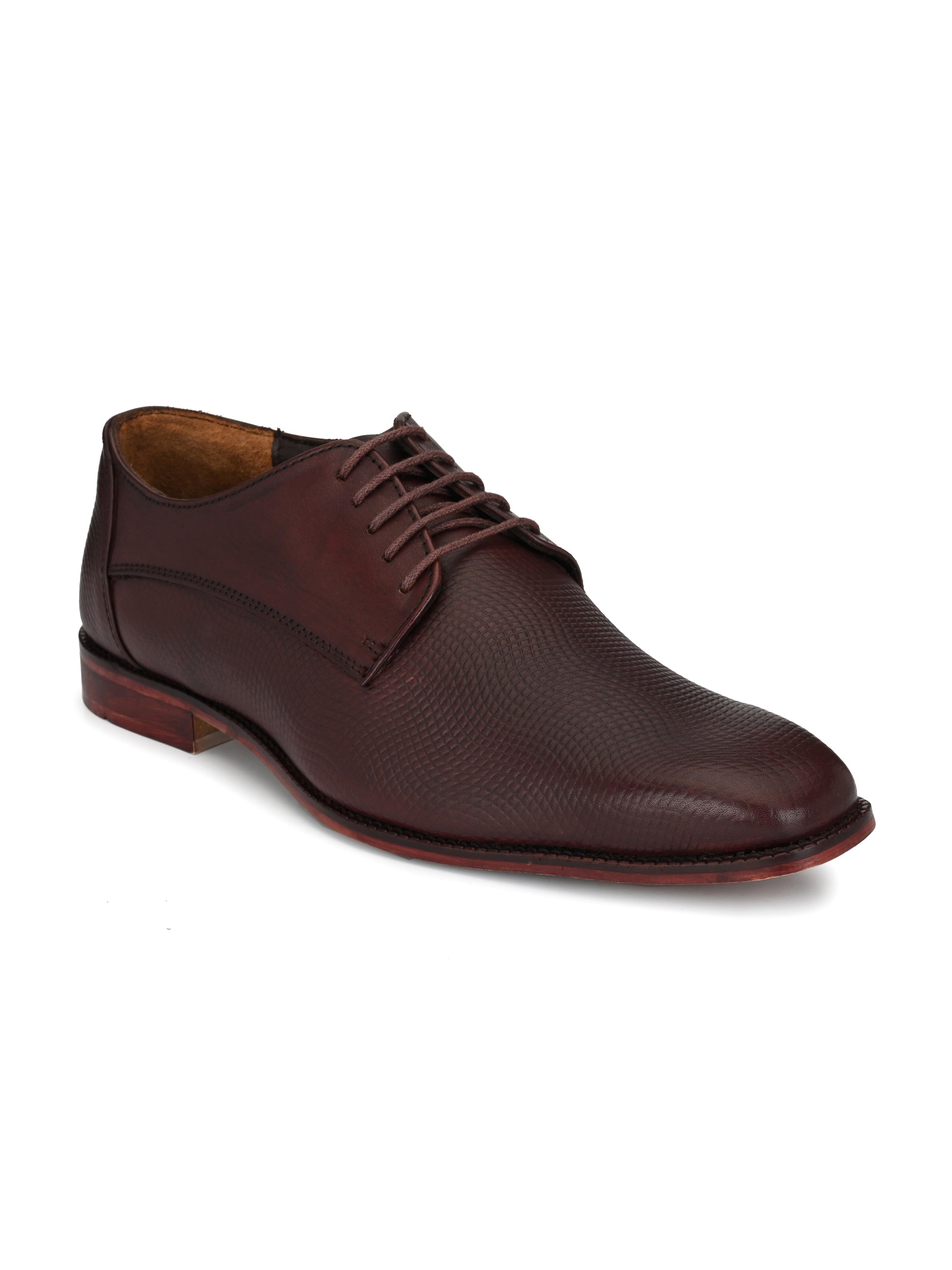 Brown Leather Elite Shoes - shoegaro