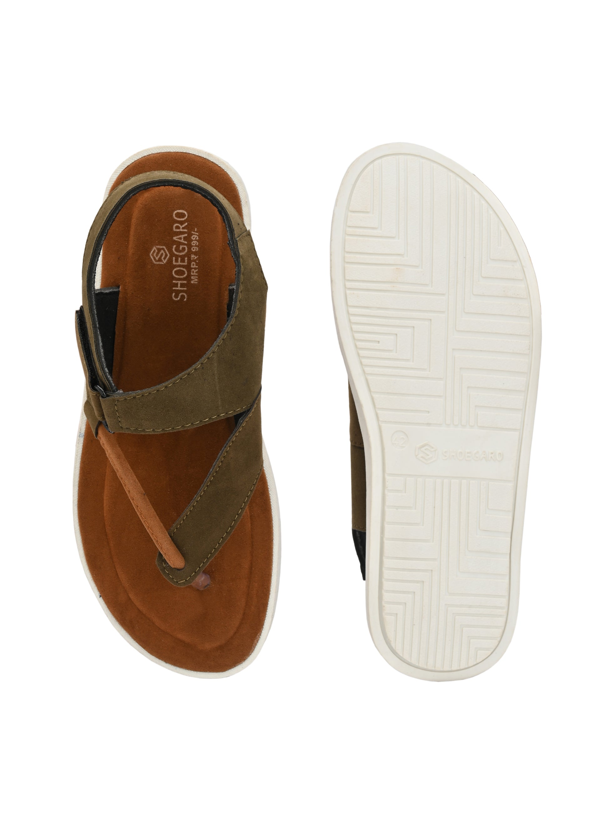 Bichrome Thong Strip Sandal - shoegaro