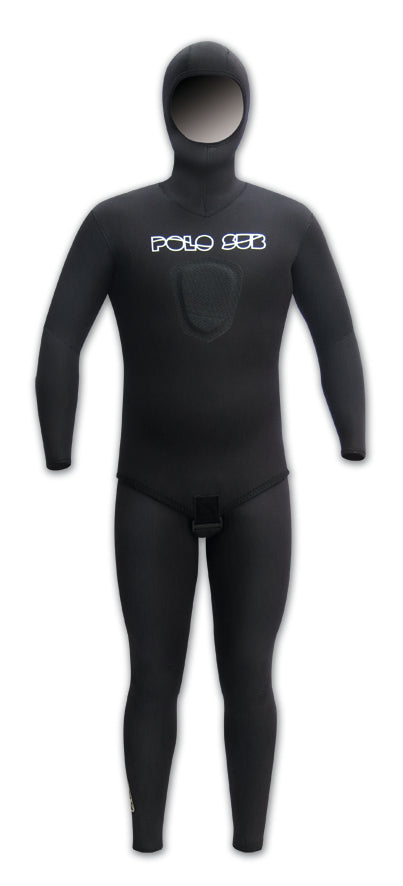 PoloSub Lined Open Cell Black Mens Wetsuit 5.5mm - Spear ...
