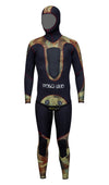 PoloSub Mens Open Cell Brown Camo Wetsuit 5.5mm
