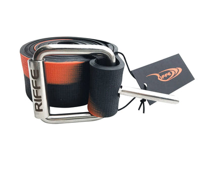 "RIFFE MARSEILLES WEIGHT BELT 57"" - BLACK ORANGE"